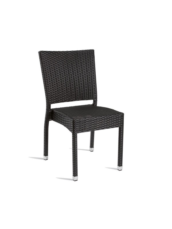 Zap Stag Comfort Side Chair in Black wicker style weave - Superior Quality