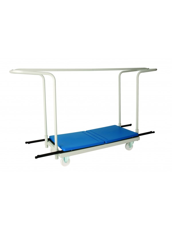 Titan Exam Desk Trolley - White