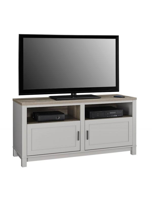 Dorel carver tv stand in grey/weathered oak or black/weathered oak