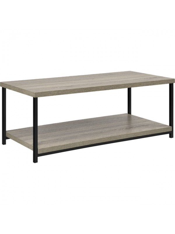 Dorel Elmwood coffee table in distressed grey oak