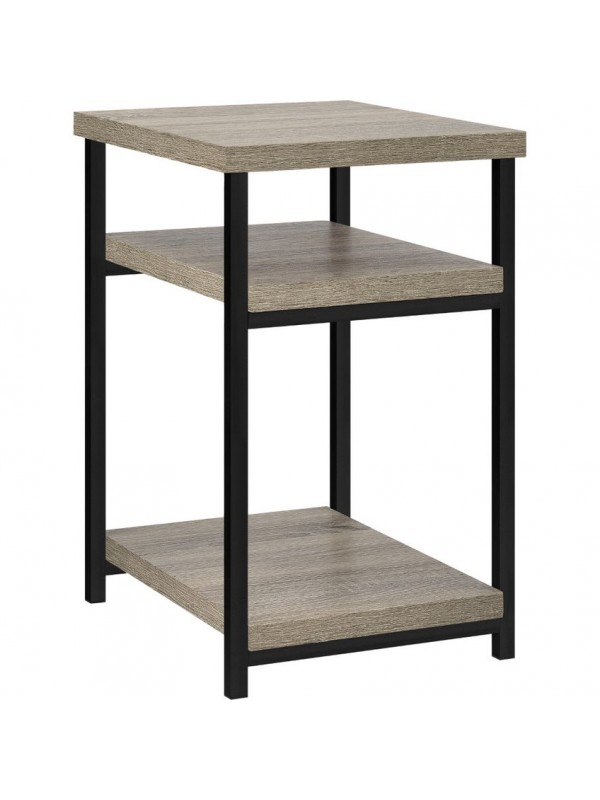 Dorel Elmwood End table in distressed grey oak