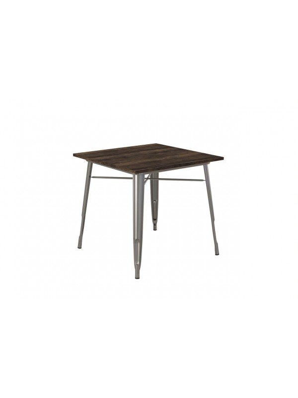 Dorel Fusion Square dining table in black or gun metal