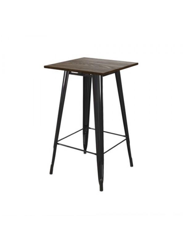 Dorel Fusion square bar table in black or gun metal