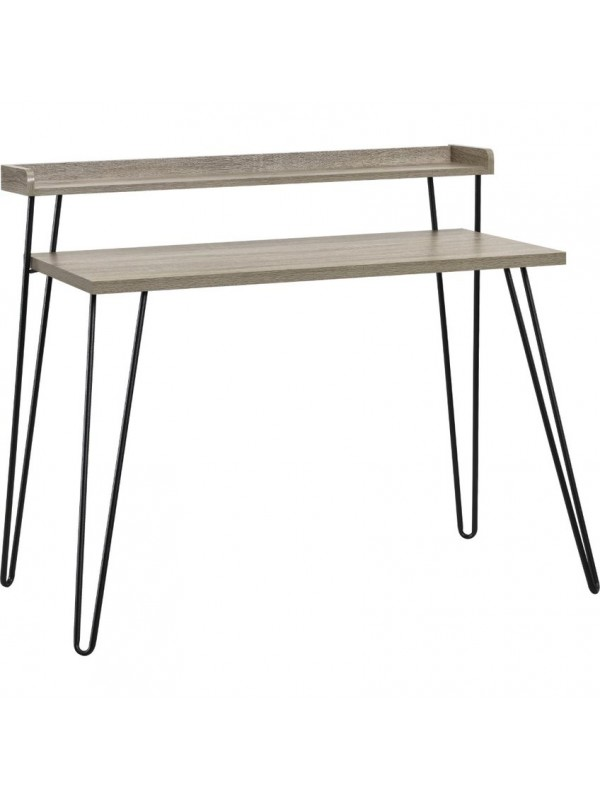 Dorel Haven Retro desk in Black / distressed gray oak / Espresso / walnut