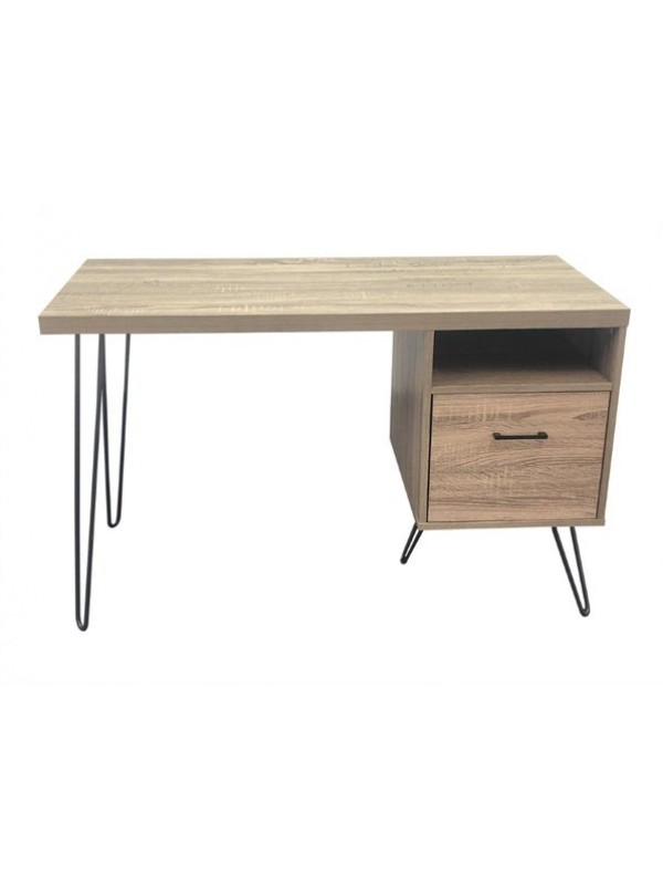 Dorel Landon desk in distressed grey oak