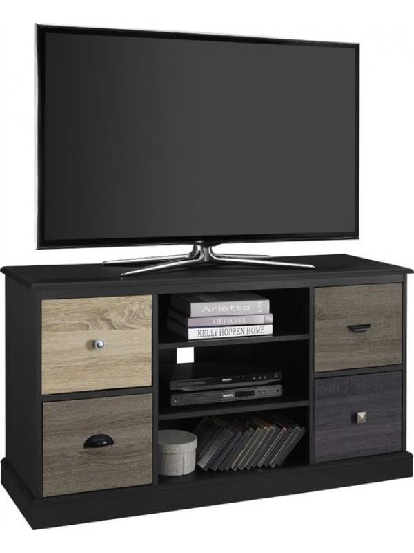 """Dorel Mercer TV Unit 50"""" in Black or White"""