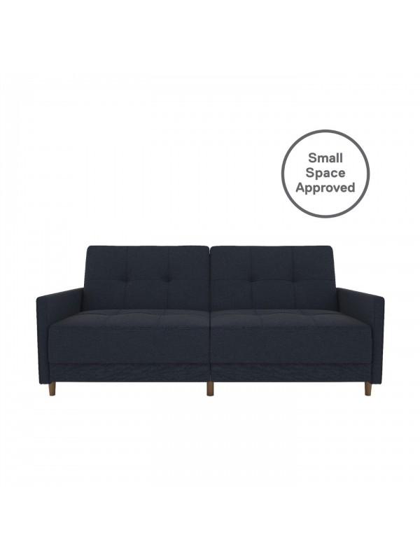 Dorel Andora Sprung Sofa Bed in Blue Linen