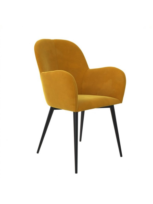 Dorel Fitz Accent chair in Silver Grey, Deep Red, Mustard or Green velvet
