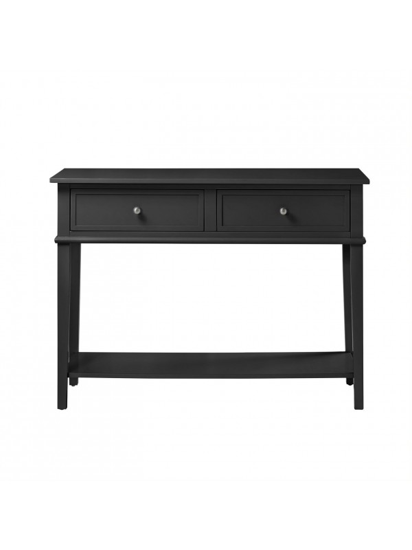 Dorel Franklin 2 Drawer Console Table Grey, Black or White Wood