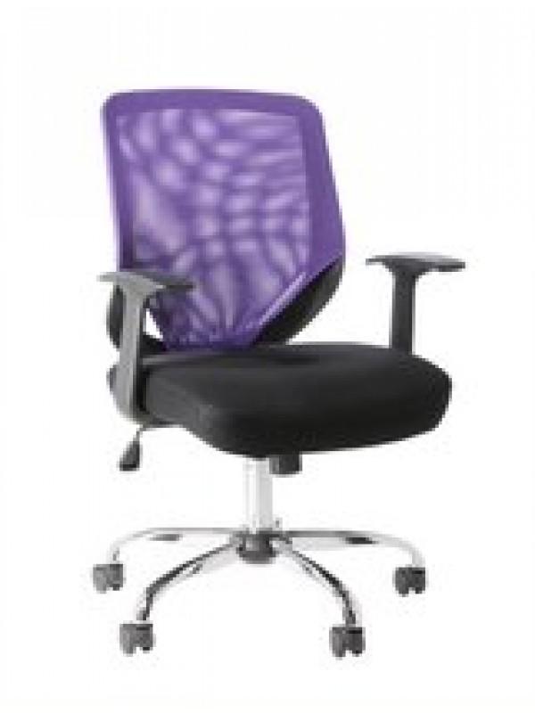 Alphason Atlanta office chair Black Grey & Purple