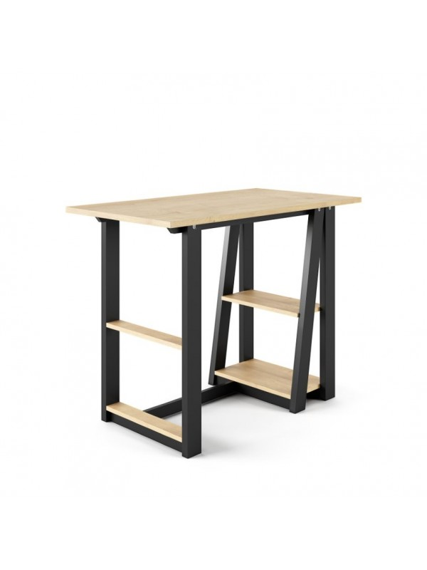 Alphason Penzance Home Office Desk Oak & Black