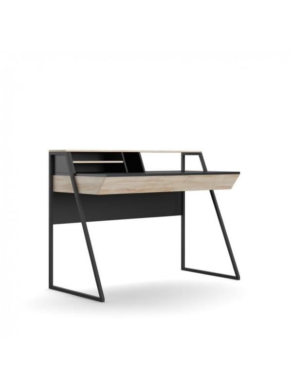 Alphason Salcombe Home Office Desk in Oak & Black