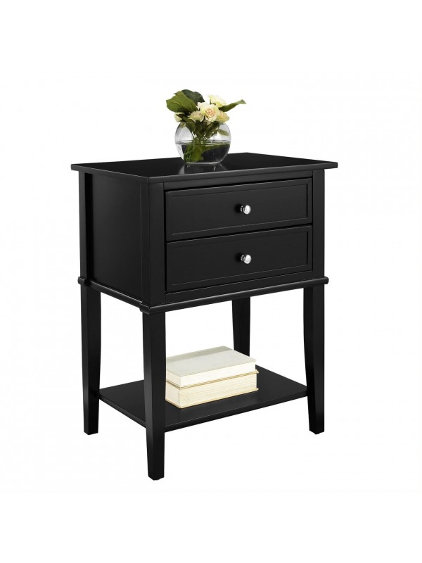 Dorel Franklin 2 Drawer Side Table 6 Colours Painted Wood