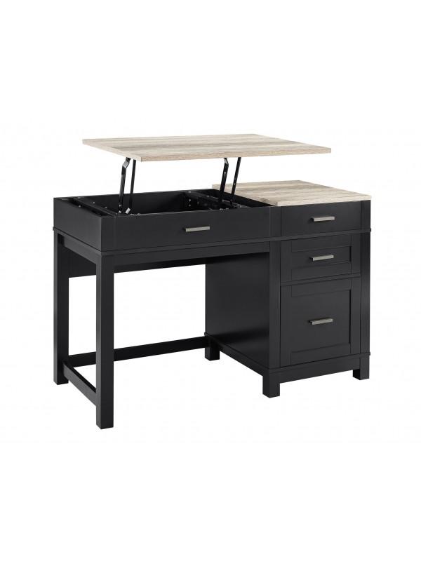 Dorel Carver Lift Up Sit & Stand Home Office Desk Black