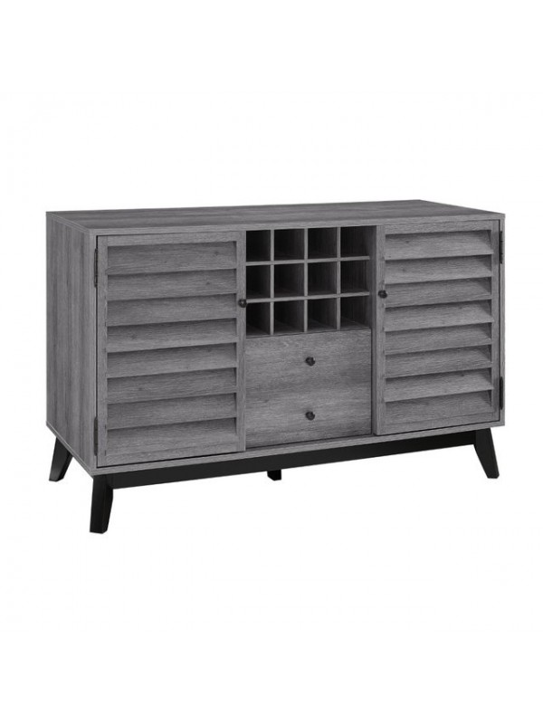 Dorel Vaughn Wine Bar Storage Sideboard Cabinet in Grey Oak
