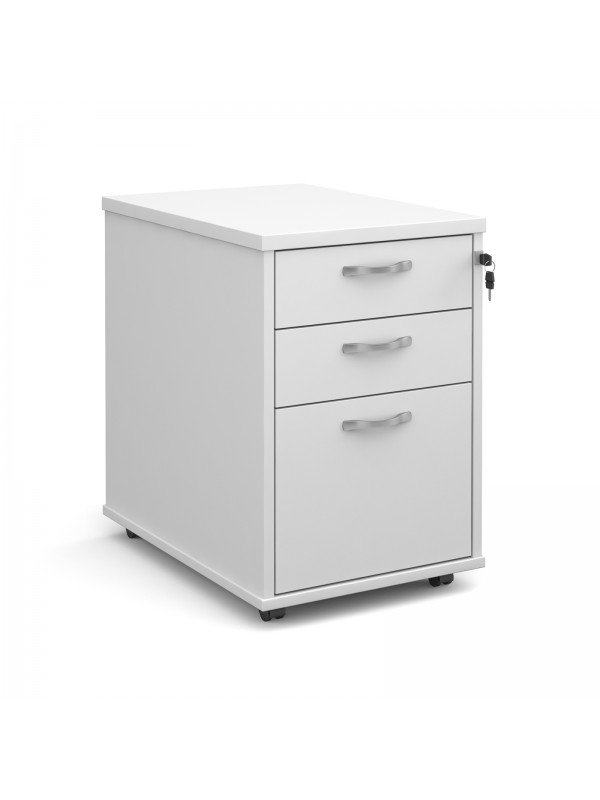 BIG DEALS Tall Mobile Wooden Pedestal 3 Drawer