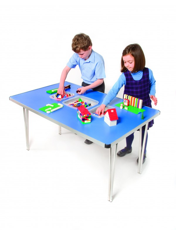 GoPak Rectangular Folding Tub Table - 3 Tubs