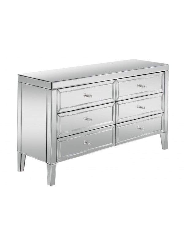 birlea Valencia Mirrored 6 Drawer Chest