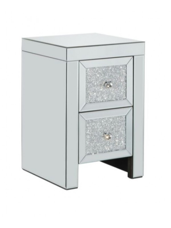 birlea Vienna Mirrored 2 Drawer Bedside