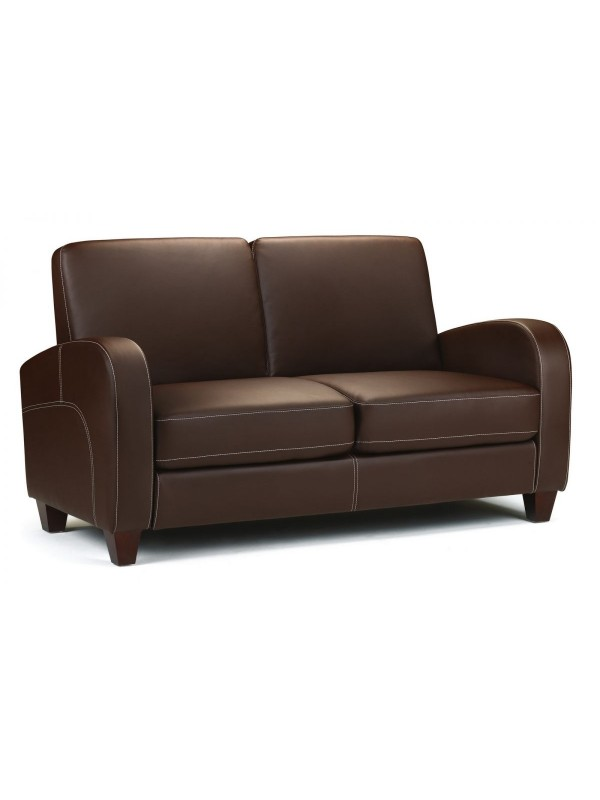 Vivo 2 & 3 Seater Sofa in Chestnut Faux Leather