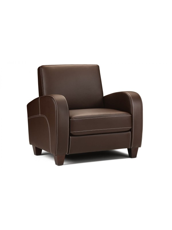 Vivo Armchair in Chestnut Faux Leather