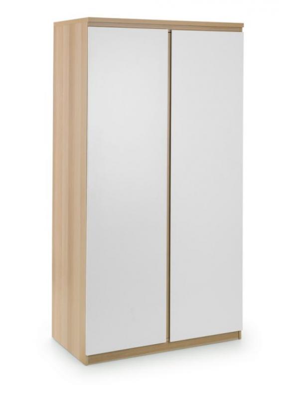 julian bowen Jupiter 2 Door Wardrobe - White/Oak