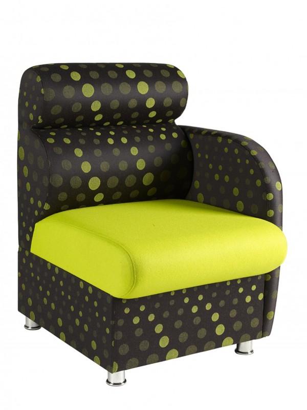 Alliance Dolfin Chair with Left Arm (Chrome Glides as Standard)