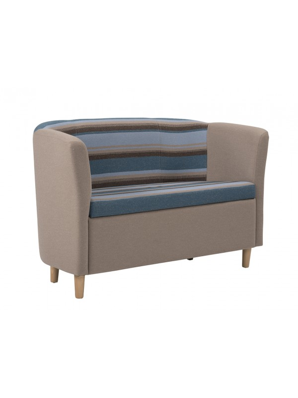 Alliance Click Tub Double Unit Tub Chair (Chrome Glides as Standard)